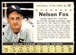 1961 Post #20 COM Nellie Fox   Front Thumbnail