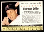 1961 Post #28 COM Sherm Lollar   Front Thumbnail