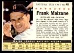 1961 Post #48 COM Frank Malzone   Front Thumbnail