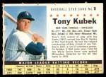 1961 Post #9 COM Tony Kubek   Front Thumbnail