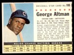 1961 Post #195 COM George Altman   Front Thumbnail