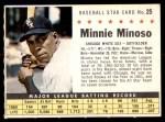 1961 Post #25 COM Minnie Minoso   Front Thumbnail