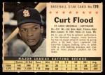 1961 Post #178 COM Curt Flood   Front Thumbnail