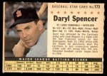 1961 Post #173 COM Daryl Spencer   Front Thumbnail
