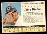 1961 Post #199 COM Jerry Kindall   Front Thumbnail