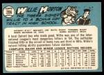 1965 Topps #206  Willie Horton  Back Thumbnail