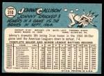 1965 Topps #310  Johnny Callison  Back Thumbnail