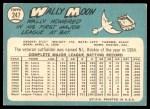 1965 Topps #247  Wally Moon  Back Thumbnail