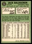 1967 Topps #114  Jack Baldschun  Back Thumbnail
