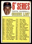 1967 Topps #454 ONE  -  Juan Marichal Checklist 6 Front Thumbnail