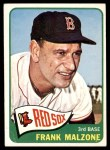 1965 Topps #315  Frank Malzone  Front Thumbnail