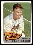 1965 Topps #323  Hank Bauer  Front Thumbnail