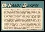 1965 Topps #323  Hank Bauer  Back Thumbnail
