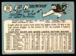 1965 Topps #393  Ed Kirkpatrick  Back Thumbnail