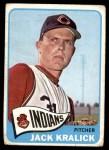 1965 Topps #535  Jack Kralick  Front Thumbnail