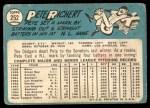 1965 Topps #252  Pete Richert  Back Thumbnail