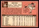 1969 Topps #28  Mike Ryan  Back Thumbnail