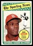 1969 Topps #432   -  Bob Gibson All-Star Front Thumbnail