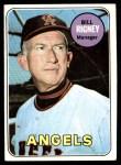 1969 Topps #182  Bill Rigney  Front Thumbnail