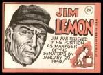 1969 Topps #294  Jim Lemon  Back Thumbnail