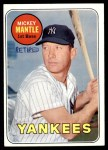 1969 Topps #500 YN Mickey Mantle  Front Thumbnail