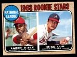 1968 Topps #579   -   Larry Hisle / Mike Lum NL Rookies Front Thumbnail