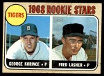 1968 Topps #447   -  George Korince / Fred Lasher Tigers Rookies Front Thumbnail