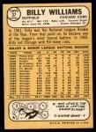 1968 Topps #37  Billy Williams  Back Thumbnail