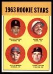 1963 Topps #407   -  Chico Ruiz / Frank Kostro / Larry Elliot / Dick Simpson Rookie Stars   Front Thumbnail