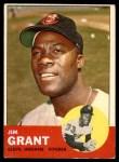 1963 Topps #227  Jim Mudcat Grant  Front Thumbnail