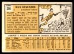 1963 Topps #296  Doc Edwards  Back Thumbnail