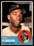 1963 Topps #477  Donn Clendenon  Front Thumbnail