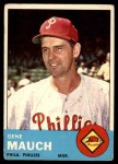 1963 Topps #318  Gene Mauch  Front Thumbnail