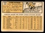 1963 Topps #519  Claude Raymond  Back Thumbnail