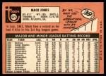 1969 Topps #625  Mack Jones  Back Thumbnail