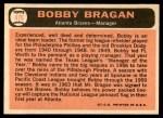 1966 Topps #476  Bobby Bragan  Back Thumbnail