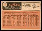 1966 Topps #188  Al Luplow  Back Thumbnail