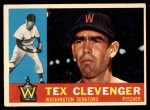 1960 Topps #392  Tex Clevenger  Front Thumbnail
