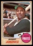1968 Topps #538  Manny Jimenez  Front Thumbnail
