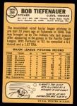 1968 Topps #269  Bob Tiefenauer  Back Thumbnail