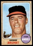 1968 Topps #347  George Brunet  Front Thumbnail