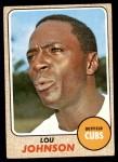 1968 Topps #184  Lou Johnson  Front Thumbnail