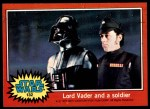 1977 Topps Star Wars #132   Lord Vader and a soldier Front Thumbnail