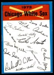 1973 Topps Blue Checklist   White Sox Front Thumbnail