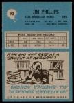 1964 Philadelphia #93  Jim Phillips  Back Thumbnail