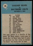 1964 Philadelphia #28   -  George Halas Chicago Bears Back Thumbnail