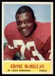 1964 Philadelphia #175  Ernie McMillan  Front Thumbnail