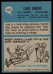 1964 Philadelphia #177  Luke Owens   Back Thumbnail
