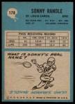 1964 Philadelphia #178  Sonny Randle  Back Thumbnail