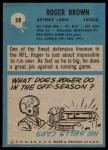 1964 Philadelphia #58  Roger Brown   Back Thumbnail